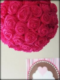 Crepe Paper Rose Pom Tutorial