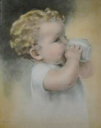 baby drinking from a cup