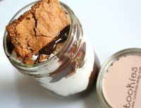 SMORE's Bar Cookie Jar with Chocolate Ganache & by tookies on Etsy, $18.00
