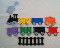 Children's FREIGHT TRAIN Flannel Board Felt Story by feltresources
