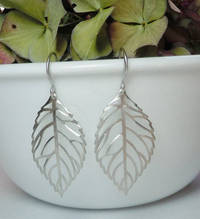 LEAF Earrings - Silver - JEWLERY from etsy.com