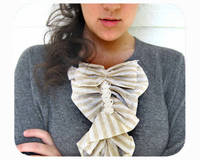 Shirt Ruffle for Women and Girls Tan and White Striped from E W McCall (Free Shipping for the Holidays) from etsy.com