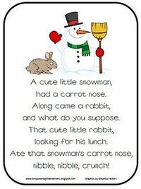 Snowman Poem Freebie! - re-posted by
