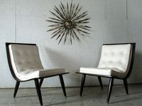 mid century danish modern scoop lounge chairs