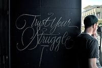 Gorgeous typographic control, with chalk no less