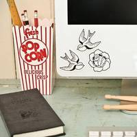 Wall Decals Mini Tattoo (Reusable and removable fabric stickers, not vinyl) - MINI Tattoo Flash stickers for laptops, notebooks etc from etsy.com