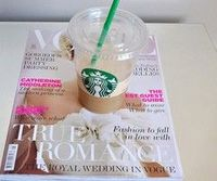 the ideal day is spent reading vogue & drinking a frappuchino.