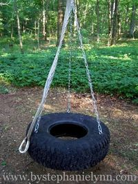 Recycled tire swing - DIY