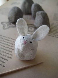 Clay Easter Bunnies