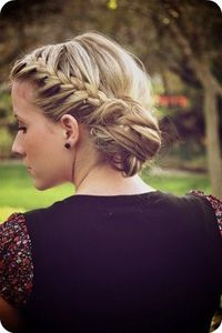 hair! messy bun braid