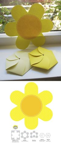 Download this foldable flower card.