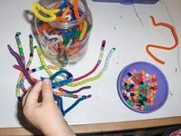 Bead snakes and counting with beads- patterning (math)