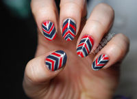I guess you could call these rustic chevrons