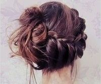 Messy braid bun :)