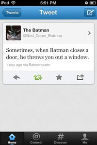 Just Batman. #Twitter