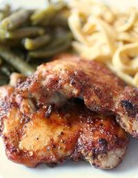 Honey Spiced Glazed Chicken Thighs