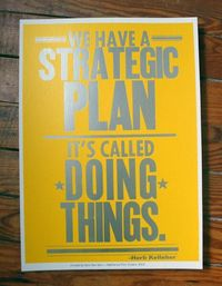 the best strategic plan ever.