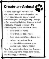 Create an animal worksheet