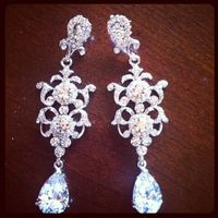 victorian chandelier earrings matching braclet jewelry sets