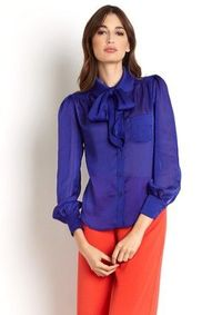 ARK & CO Tie Neck Blouse