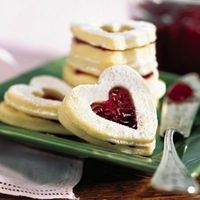 Sugar Free-Raspberry Heart Cookies