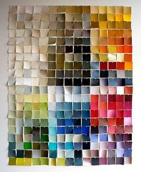 paint swatches, neat