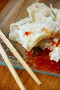 Chinese Boiled Pork Dumplings from For the Love of Food