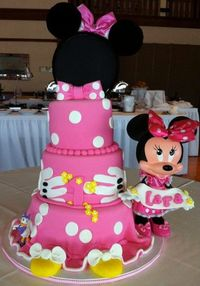 Love this Minnie Mouse cake
