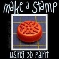 Bottle Cap + Puff Paint = a unique stamp #tutorial #stamp #bottle cap