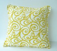 pillow w/ yellow swirls
