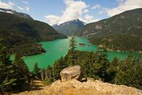 The amazing greens of Lake Diablo, Diablo, Washington- Great hiking here!