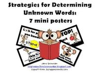 Do your students get frustrated when they are stuck on a word? The 7 mini posters will give students visual clues as to what to do to determine an...