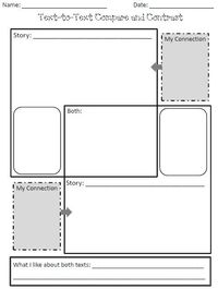 Text-to-Text Compare and Contrast Organizer