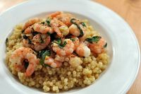 lemon & chili shrimp with couscous
