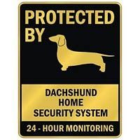 protected by dachshund home security system