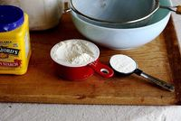 How to make cake flour..add corn starch and sift, sift, sift!