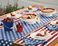 Willimas Sonoma 4th of July table setting