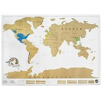 Scratch-off world map. Scratch where you have traveled...