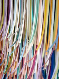 shredded paint swatches