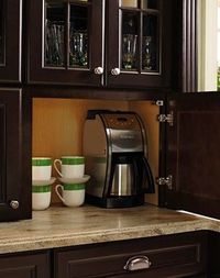 Counter cabinet for coffee/toaster