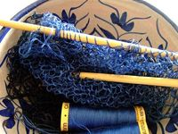 Knitting with Sewing Thread by annekata, via Flickr