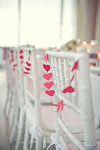 OR heart garlands? Ombre?Photography by carlateneyck.com, Event Planning, Design Flowers by dmeventsny.com/