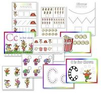 C is for Clown pre-school printables. This whole website has awesome activities.