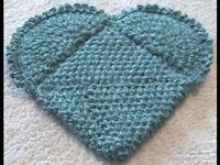 Left Hand Crochet Magic Heart Potholder