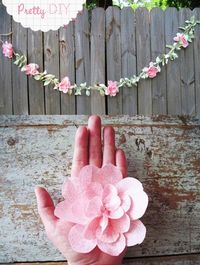 DIY Fabric Flower Garland