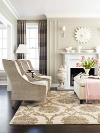 Neutral Living Room Makeover, I've been looking at that fabric for draperies.
