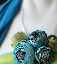 Oh so delicate Paper Flower Jewelry Creations