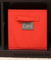 Chalkboard Tags for Toy Storage
