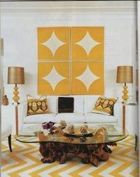 #artwork #yellow #rug #zigzag #livingroom #eclectic