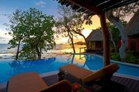 A peaceful tropical night at Namale-The Fiji Islands Resort & Spa, a luxury 5-star resort in the Fiji.